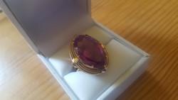 Antik arany gyűrű /ametiszt