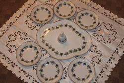 Hollóházi süteményes készlet