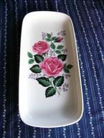 A02 Bavária szép rózsás asztalközép, kínáló