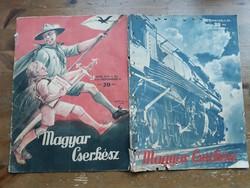 Magyar Cserkész XVIII/1 1936, és XIX/2 1937 száma