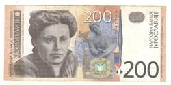 200 dinár 2001 Jugoszlávia