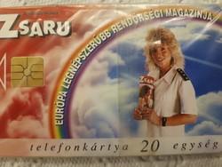 Zsaru magazin telefonkártya bontatlan fóliában