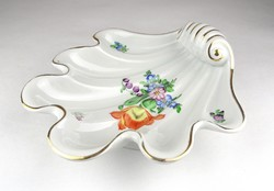 0X715 Herendi porcelán kagyló kínáló tál