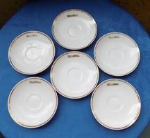 Hollóházi porcelán tányér készlet Hungar Hotels felirattal 6 db 15,5 cm (2p)