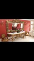 Barokk stílusú faragott,aranyozott tükör konzol/tálaló