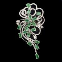 Egyedi Valodi Smaragd 925 Ezust Bross