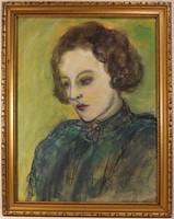 Rippl-Rónai József (1861-1927) Keretezett Pasztell Festmény