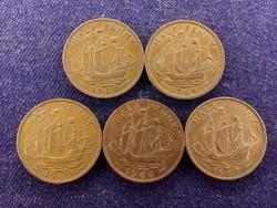 5 db angol half Penny, mind más év (id8902)