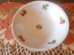 Alföldi porcelán tál, zöldség mintával
