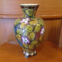Különleges szépséges madaras-virágos váza nagyméretű