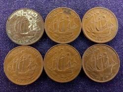 6 db angol half Penny, mind más év (id8901)