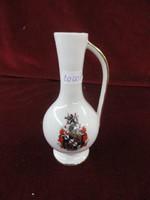 Bavaria német porcelán váza Bayreuth címerrel, 13 cm magas.