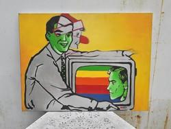 Modern - kortárs festmény.