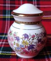 Aprócska virágos parfümös tégely