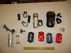 Lámpák biciklire-hibásak - 5 darab - régről maradt