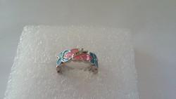 Szolid színes  csodaszép gyűrű