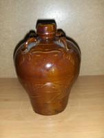 Mázas kerámia szaké tároló kínáló palack (5/d)