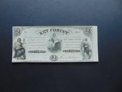 2 forint 1852 C Kossuth bankó Szép bankjegy !  02