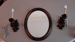 Tükör antik falikarral
