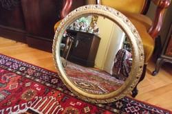 Antik kerek tükör.