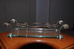 Üveg/fém pohár tartó dísztárgy