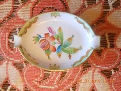 Herendi porcelán Viktória mintás hamutartó