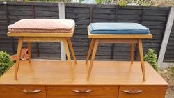 Retro ülőkék párban, kivhető párnás, fésülködő szék