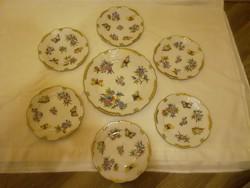 Herendi Viktória mintás porcelán süteményes készlet
