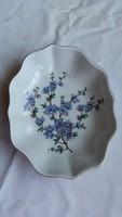 Hollóházi kék virágos kis kínáló eladó!