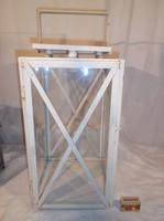 Fém - hatalmas - lámpás - 55 x 25 x 24 cm - hibátlan