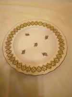 Herendi kis virágmintás porcelán áttört fali tál, tányér