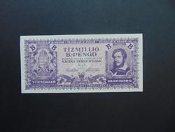 10 millió B.-pengő 1946 Hajtatlan bankjegy !