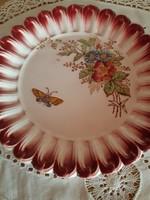 Majolika tányér pillangóval-20 cm