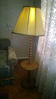Koloniál állólámpa gyönyörű ernyővel, lerakó lappal- szép állapot