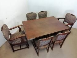Rusztikus tölgy étkező I.(asztal+6 szék)