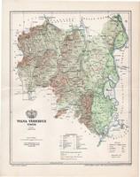 Tolna vármegye térkép 1897 (1), lexikon melléklet, Gönczy Pál, 23 x 30 cm, megye, Posner Károly