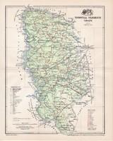 Torontál vármegye térkép 1897 (2), lexikon melléklet, Gönczy Pál, 23 x 29 cm, megye, Posner Károly