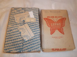 LEPKE - Cigipapír 7980 db !!!!! -199 csomag - eredeti csomagolásban - cigipapír - kb.1950  bontatlan