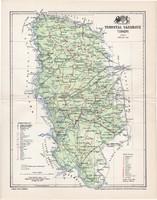 Torontál vármegye térkép 1897 (4), lexikon melléklet, Gönczy Pál, 23 x 30 cm, megye, Posner Károly