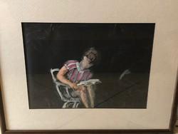 Ismeretlen festő: Akvarell, Olvasó lány