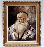 FÉLÁRON! Adilov Kabul Rabbi portré KERETEZVE 63x53cm