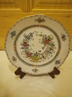 Herendi színes Indiai kosármintás fali tányér tál