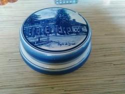 Holland Delft porcelán bonbonier