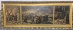 Óriási leárazás!!! Feszty Árpád: Krisztus temetése - vászon nyomat. 1910.
