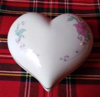 Hollóházi szív alakú bonbonier