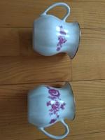 2db porcelán kiöntő