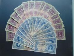 15 darab 100 pengő - 15 darab 500 pengő LOT !
