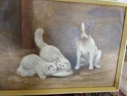 Állatos festmény-Mesterházy