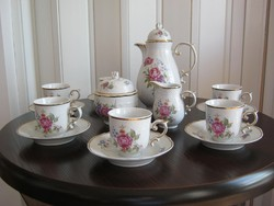 Hollóházi porcelán kávéskészlet