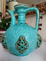 Zsolnay pecs 1880 kancso ritka-Early, Rare turquoise, separated glaze